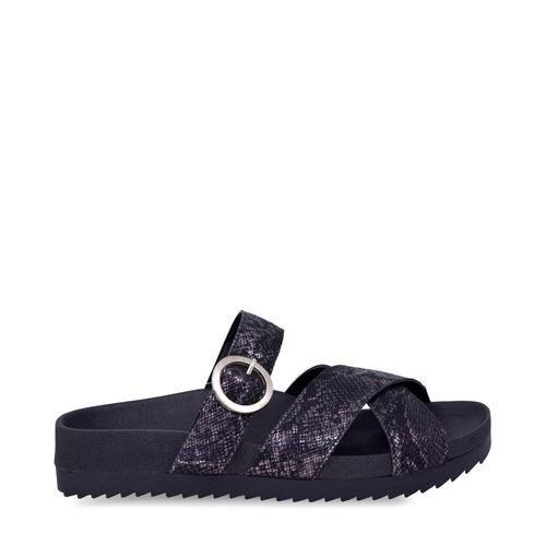 Sandalias negras base de goma verano 2020 Sky Blue