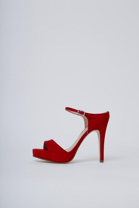 Sandalias rojas altas noche de fiesta verano 2020 Valdez