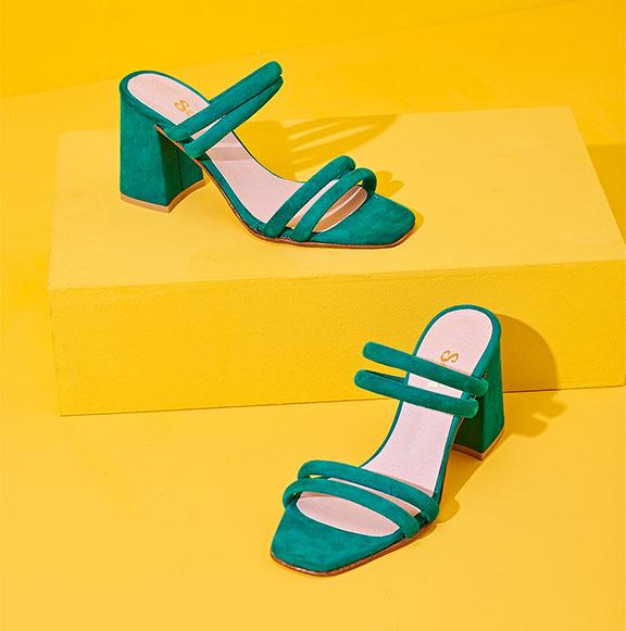 sandalas verdes verano 2020 Sofi Martire