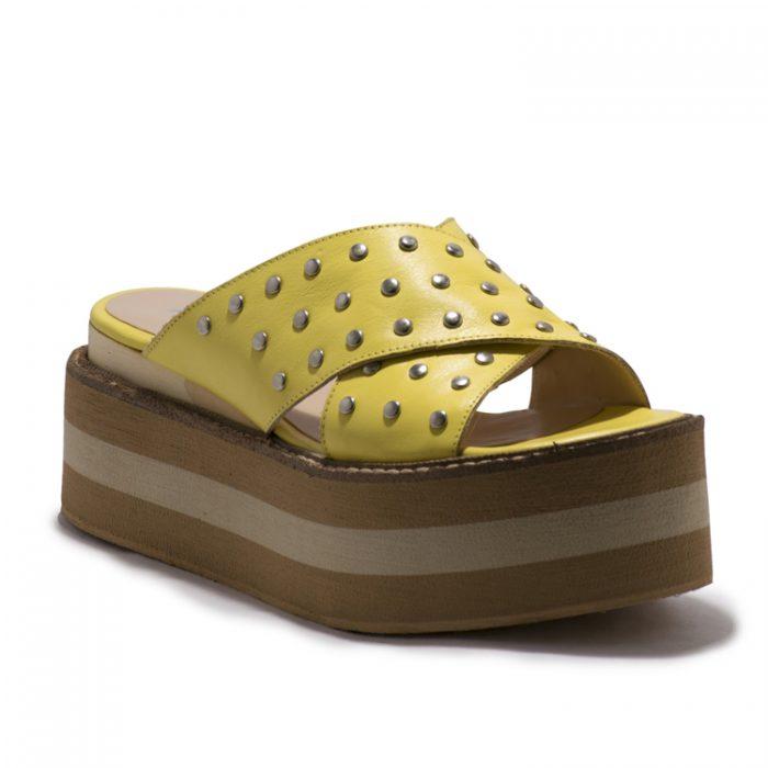 sandalias amarillas primavera verano 2020 Praxis Calzados