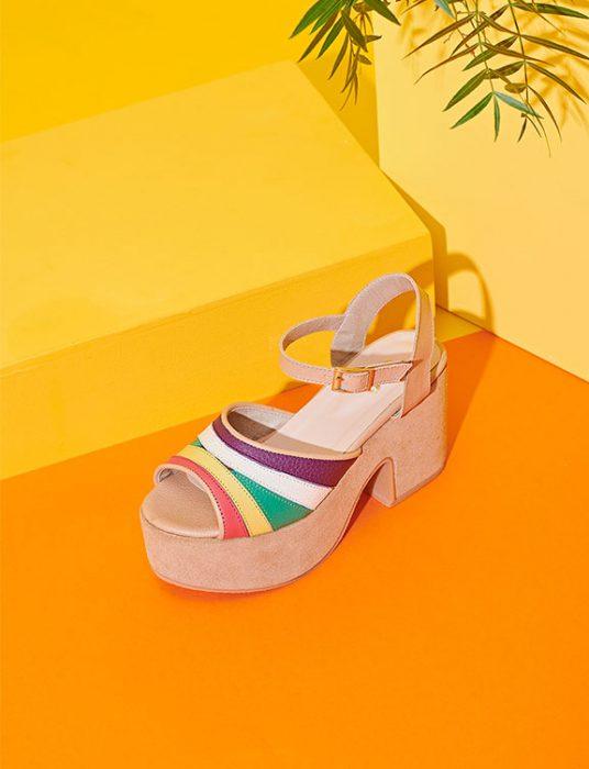 sandalias multicolor con plataformas verano 2020 Sofi Martire