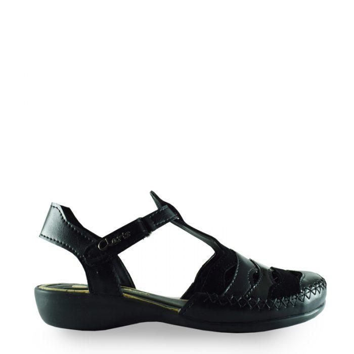 sandalias negras primavera verano 2020 Señoras Claris Shoes