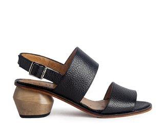 sandalias negras taco redondo Cestfini primavera verano 2020