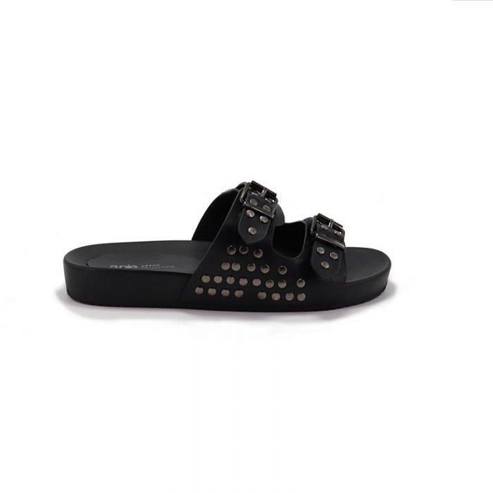 sandalias negras verano 2020 A Pie