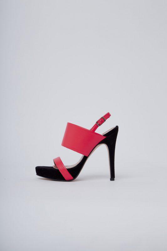 sandalias negras y fucsia altas noche de fiesta verano 2020 Valdez