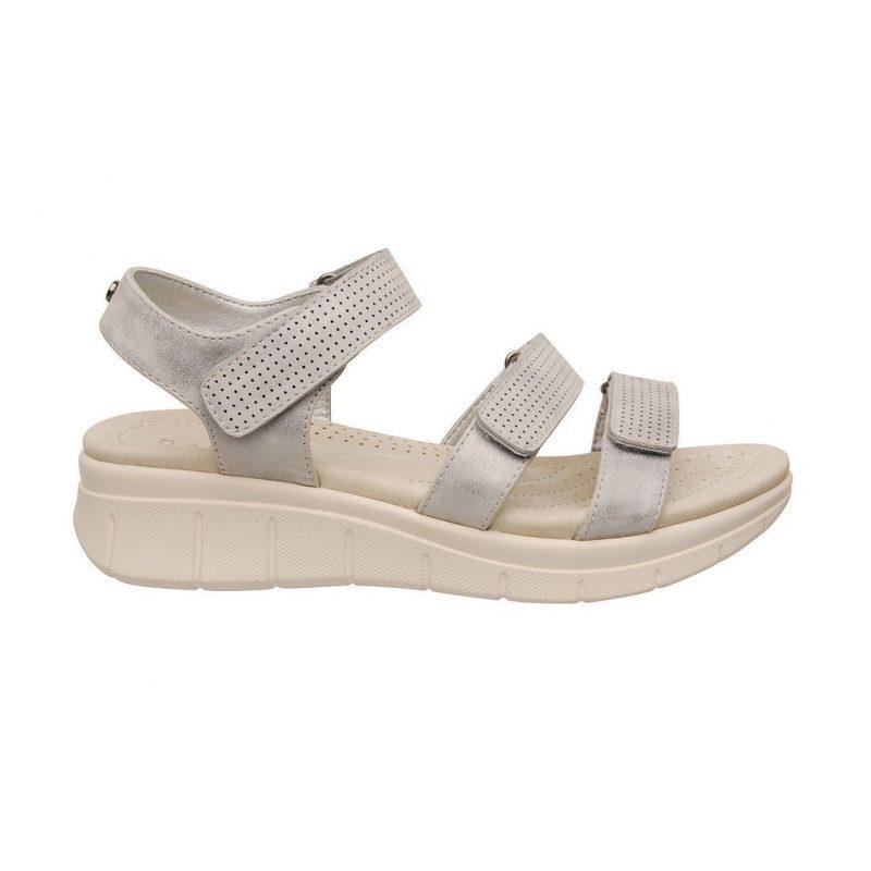 sandalias plateadas con abrojos linea confort verano 2020 Barker