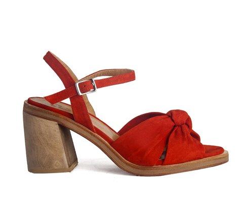 sandalias rojas Cestfini primavera verano 2020