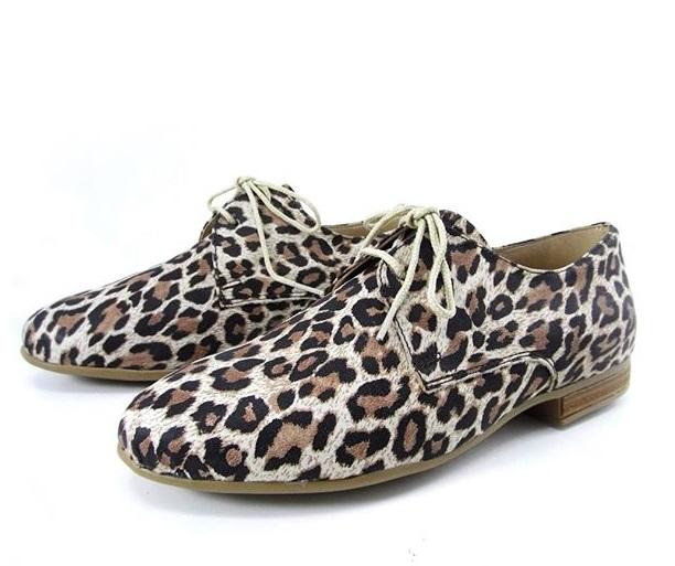 zapatos acordonados leopardo para mujer primavera verano 2020 Laura Di Nizo Calzature