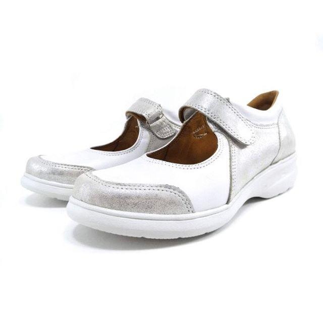 zapatos blancos y plateados para mujer primavera verano 2020 Laura Di Nizo Calzature