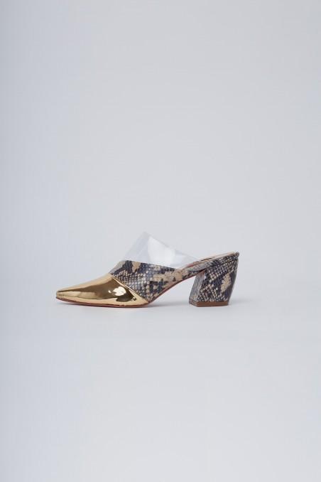zapatos punta dorada altas noche de fiesta verano 2020 Valdez