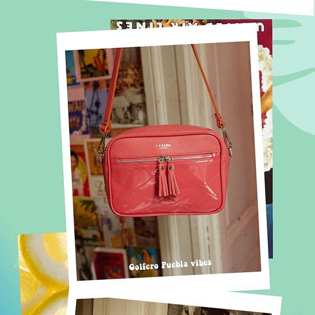 cartera rosa chicle roja Lazaro verano 2020
