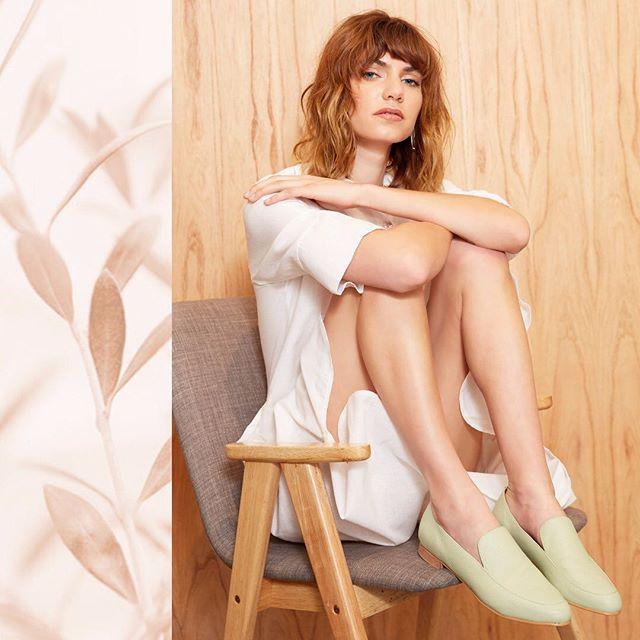 mocasines mujer verde menta verano 2020 Margie Franzini shoes
