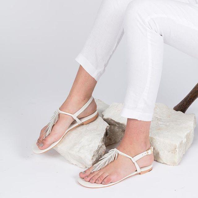 ojotas elegantes blancas verano 2020 De Maria calzados