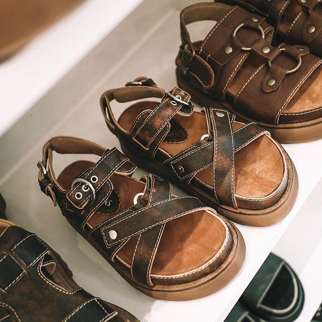 sandalais cuero gastado verano 2020 Las Motas