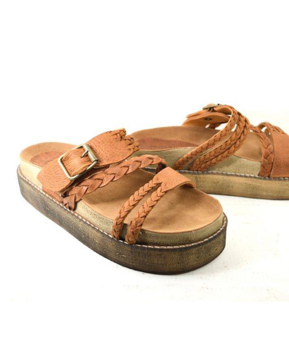 sandalia cuero trenzado verano 2020 Cazlados Demil