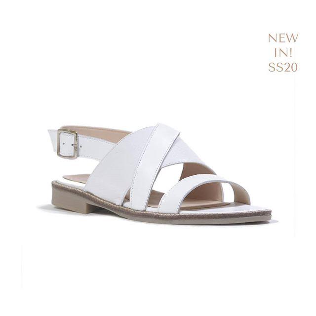 sandalia plana blanca verano 2020 Liotta
