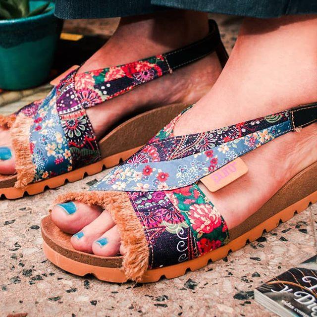 sandalias estampadas erano 2020 Calzados Puro