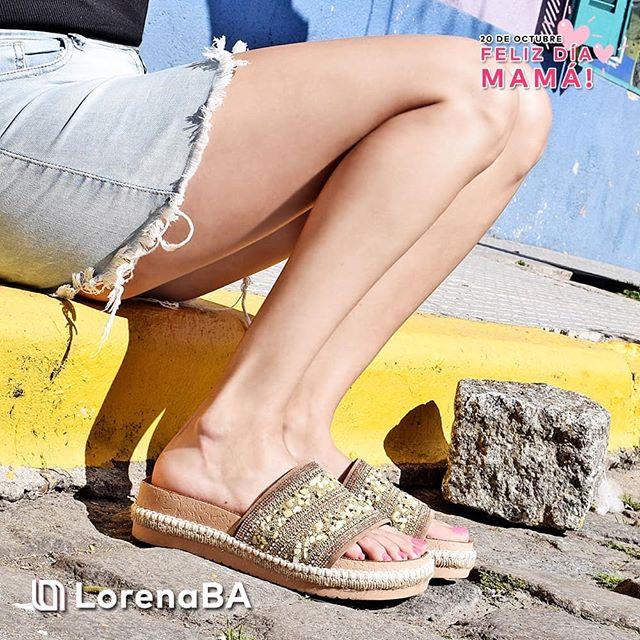 sandalias planas bordadas verano 2020 Lorena Ba Calzados