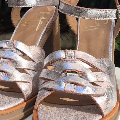 sandalias plateadas verano 2020 Bettona