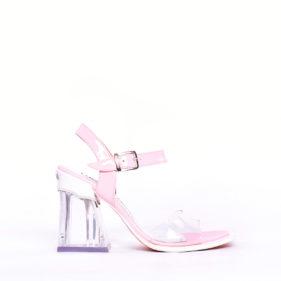 sandalias rosa y transparentes verano 2020 Luciano Marra
