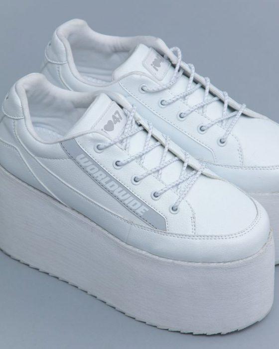 zapatillas blancas con plataformas verano 2020 47 Street