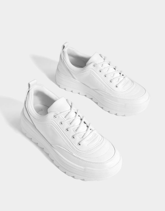 zapatillas blancas con plataformas
