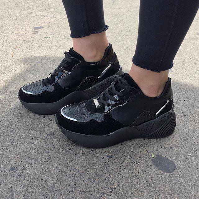 zapatillas negras verano 2020 Calzados Tops