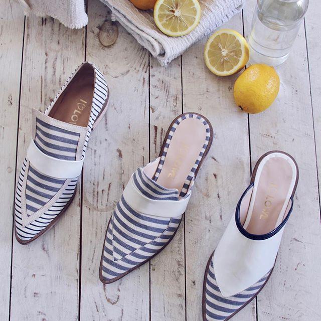 zapatos planos a rayas verano 2020 Lowe
