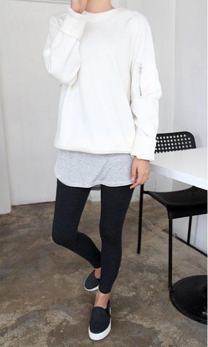 look informal con panchas y calzas
