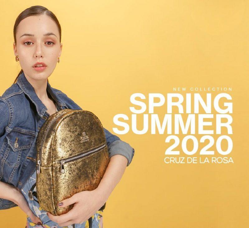mochila dorada verano 2020 Cruz de la Rosa