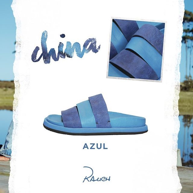 sandalia plana azul Rauch Zapatos verano 2020