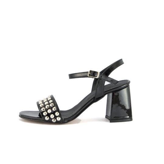 sandalias negras de charol Anunziatta verano 2020