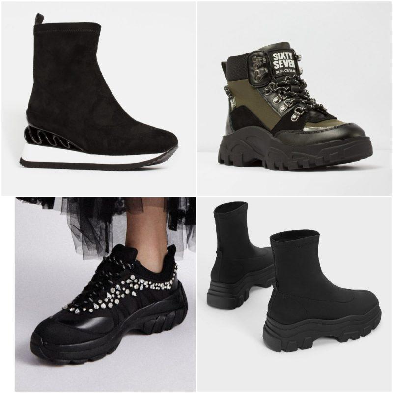 Botas y zapatos con suela deportiva invierno 2020 tendencias