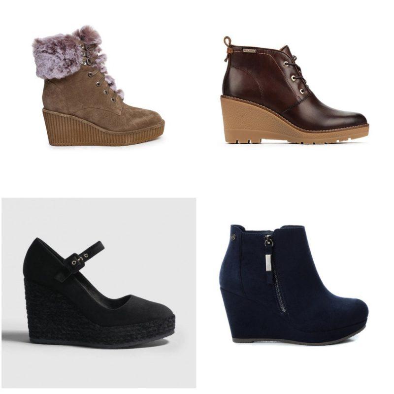 Botas y zapatos con taco cuña invierno 2020 Tendencias