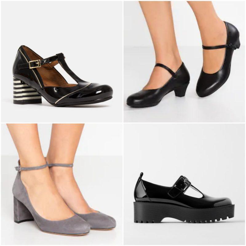 Zapatos estilo guillermina con taco invierno 2020 Tendencias