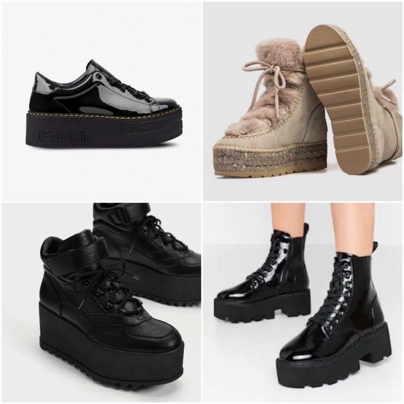 Zapatos y botas con base plana invierno 2020 Tendencias