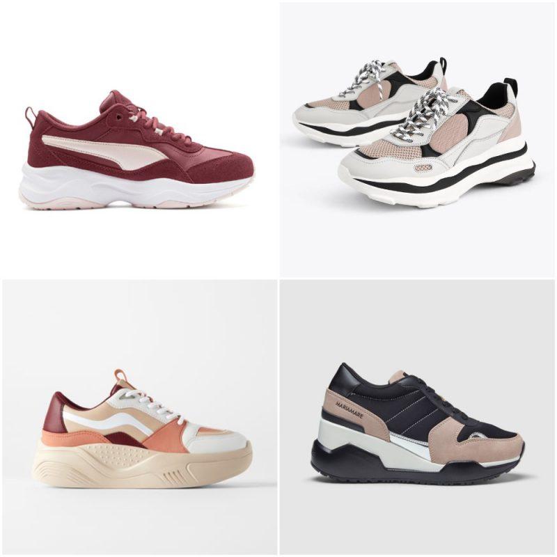 zapatillas que combinan colores para mujer invierno 2020