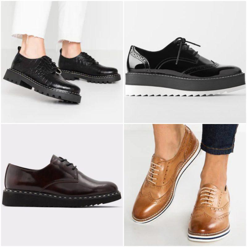 zapatos acordonados de moda invierno 2020 Tendencias