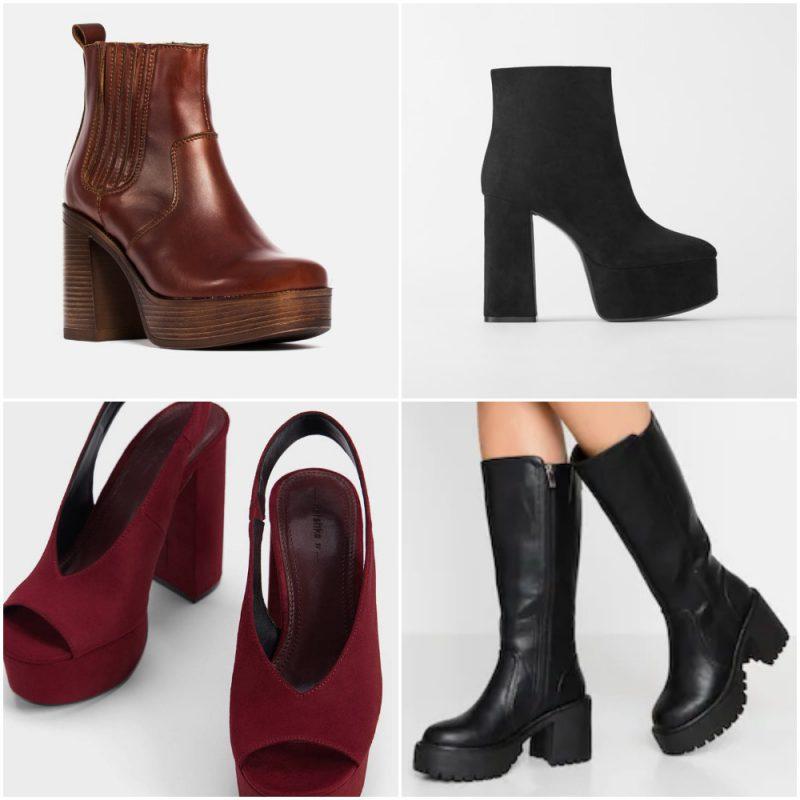 zapatos y botas con plataformas invierno 2020 Tendencias