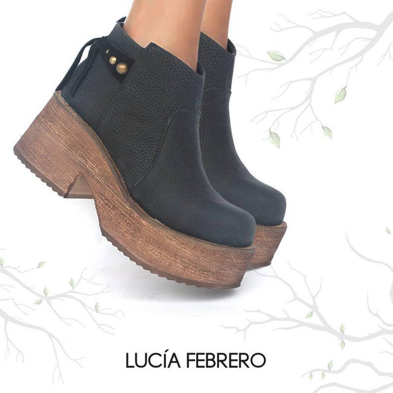 botitas engras base madera invierno 2020 Lucia Febrero