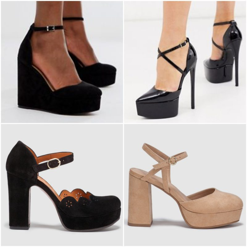 zapatos altos con plataformas calzados para fiestas invierno 2020