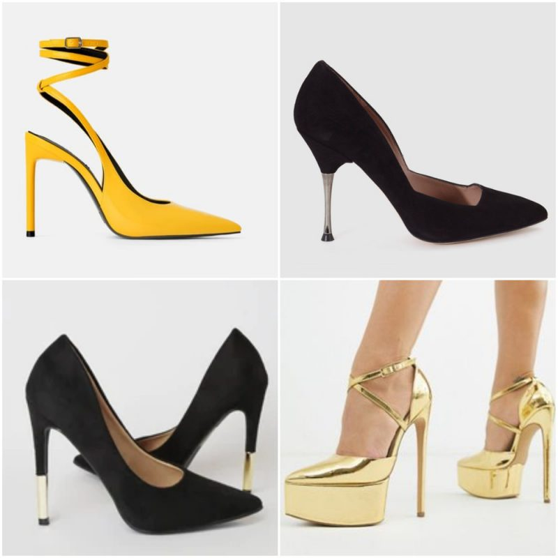 zapatos con taco aguja calzados para fiestas invierno 2020