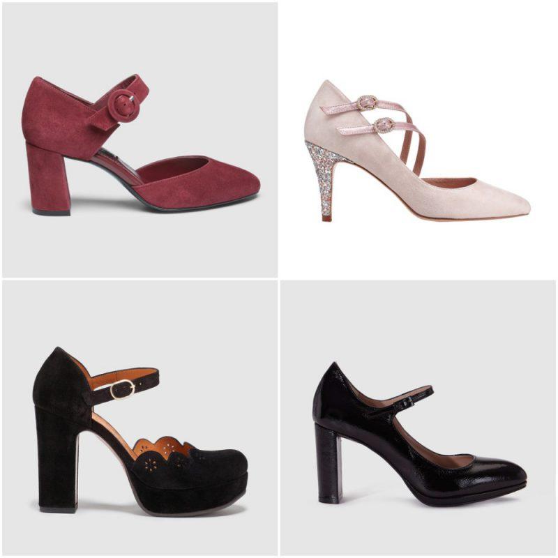 zapatos taco alto estilo guillermina invierno 2020