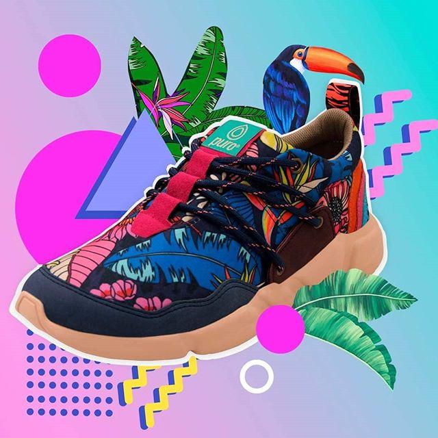 Zapatillas estampadas invierno 2020 Puro calzados