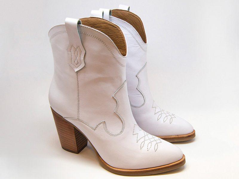 botas texanas blancas invierno 2020 Micadel