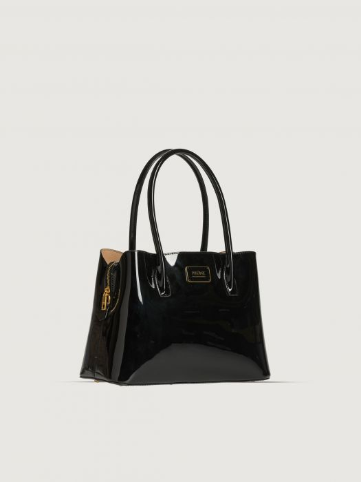 cartera de charol negra formal invierno 2020 Prune