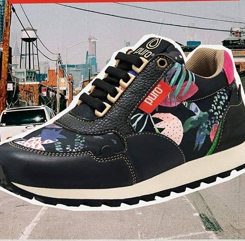 zapatillas negras estampadas invierno 2020 Puro calzados