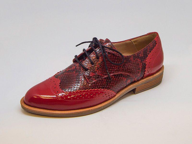 zapato abotinado rojo para mujer invierno 2020 Micadel