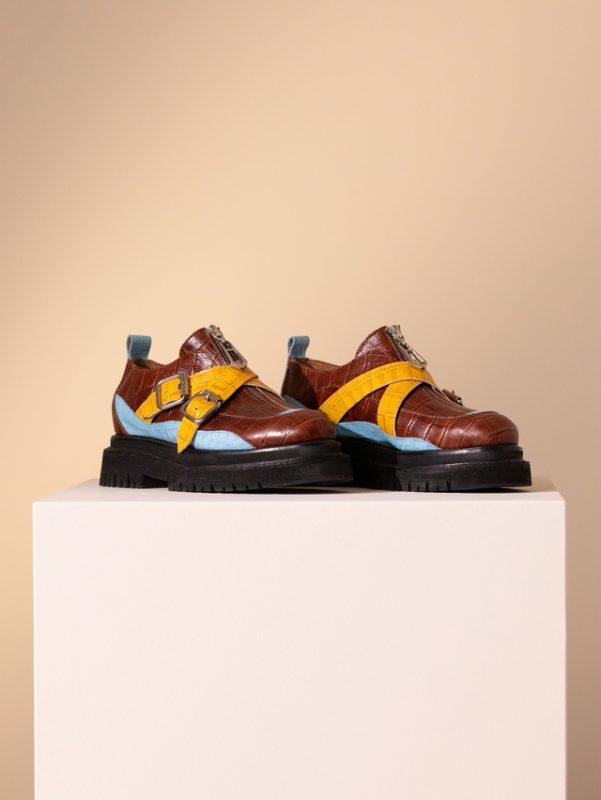 zapatos planos mujer con mix de colores invierno 2020 Jazmin Chebar