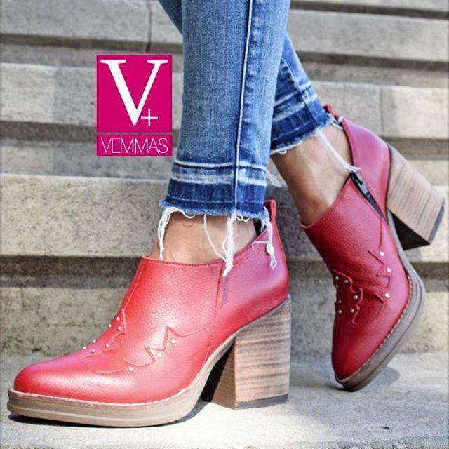Botas rojas invierno 2020 Calzado Vemmas